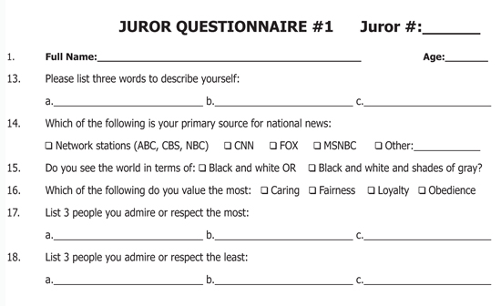 Identifying and connecting with conservative jurors