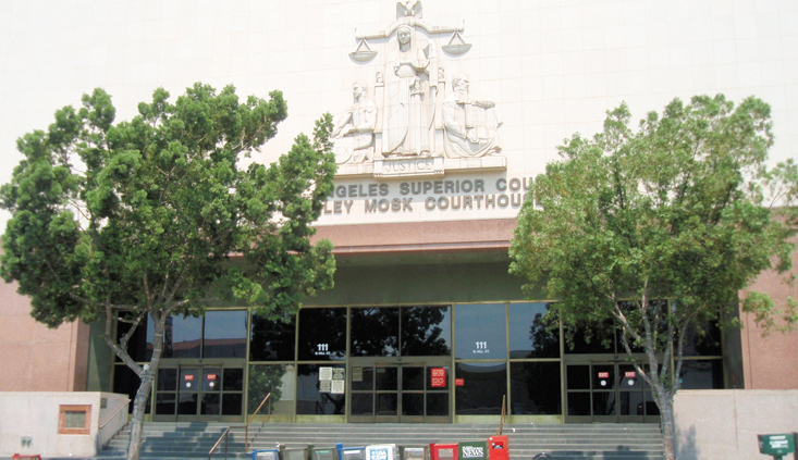 Checking in to Los Angeles Superior courtrooms
