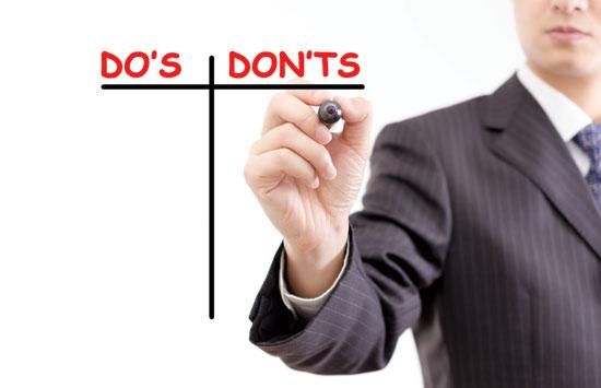 "The five major ""do not do's"" for maximum value settlements"